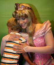 Photo: A hug for Aurora at the Meet the Princesses at Town Square Theater