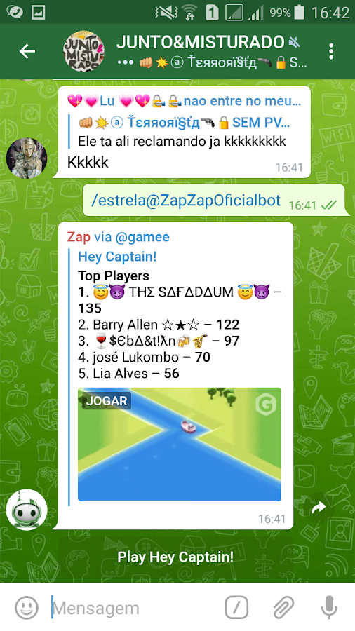 ZapZap Messenger: captura de tela