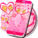 Pink Love Keyboard Free icon