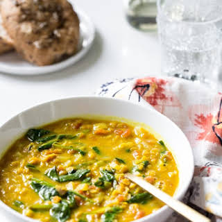 Glowing Spiced Lentil Soup.