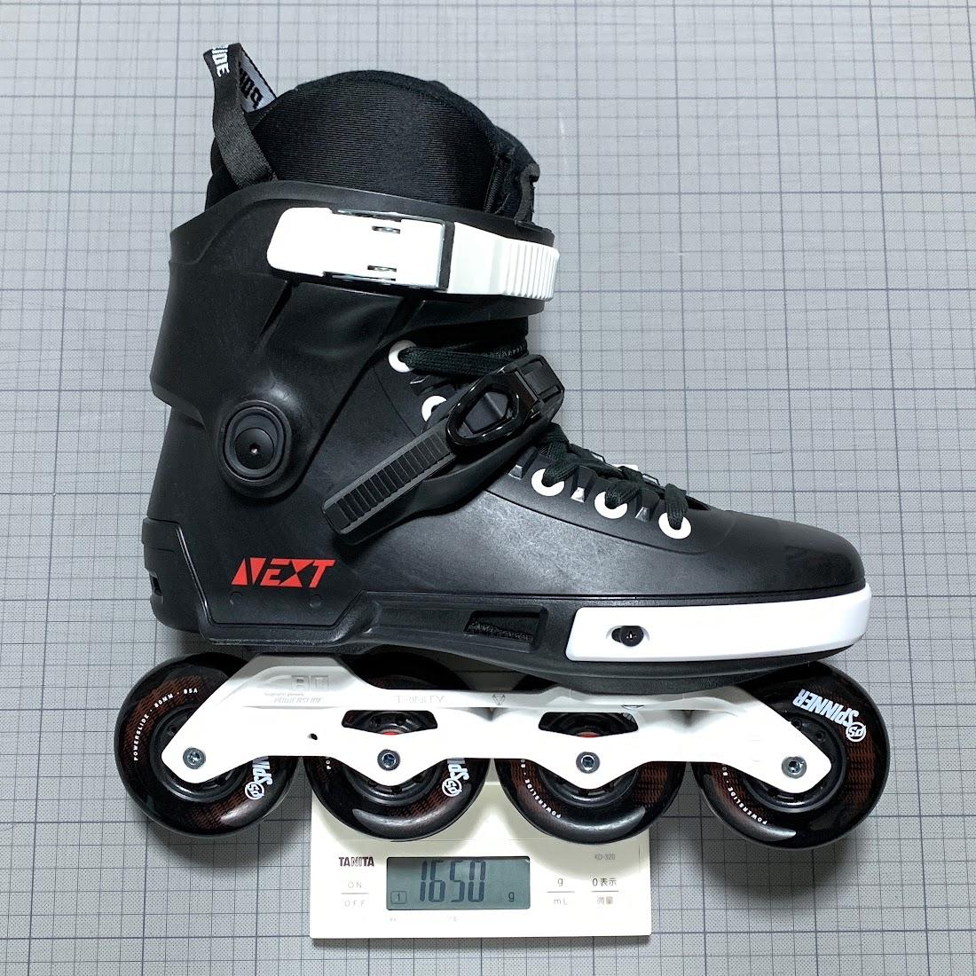 写真1 EU42-43のブーツ片足分の総重量:1650g