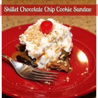 Skillet Chocolate Chip Cookie Sundaes.