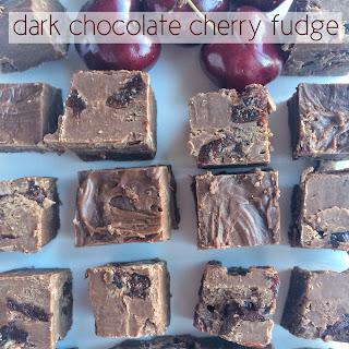 Dark Chocolate Cherry Fudge