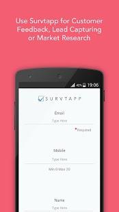 Survtapp Feedback & Survey App - náhled