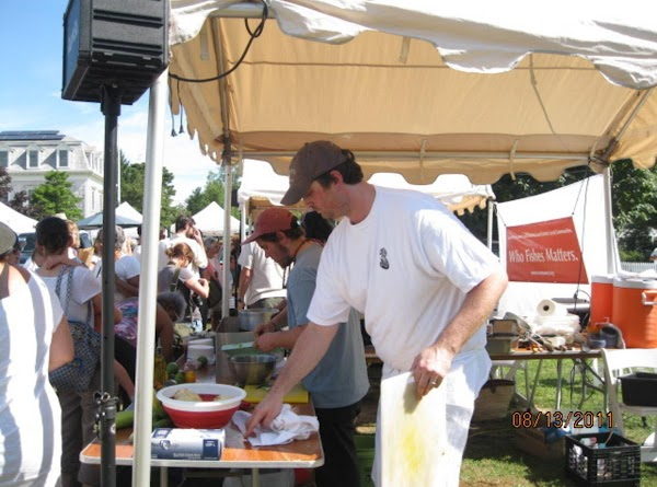 Local newspaper reporter/photographer Mark L. was there, and the photographer from Edible Vineyard was...