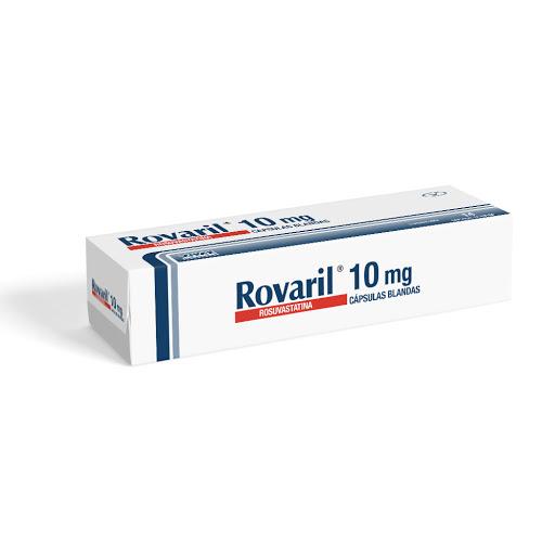 Rosuvastatina Rovaril 10mg 20 Cápsulas Blandas