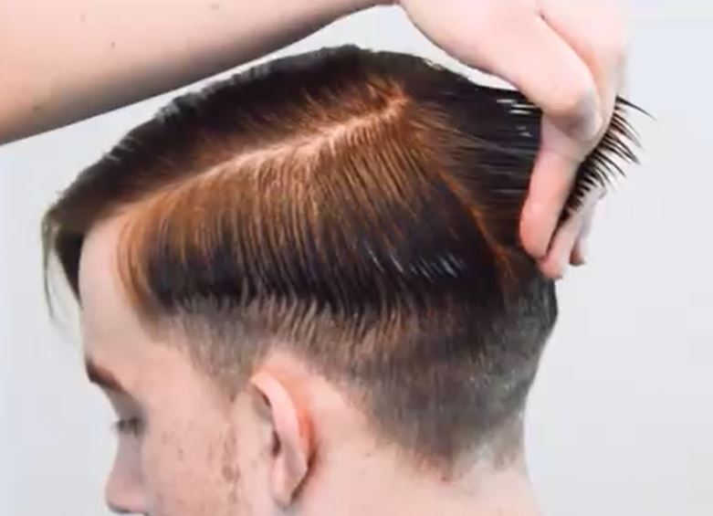 use fingers to pinch hair