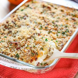 Cheesy Mashed Potato Casserole With Bacon