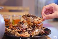 青海岸活蝦料理