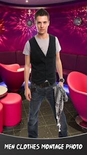 Mužské oblečení montáž foto - náhled