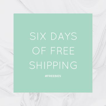 Six Days of Free Shipping - Instagram Post Template