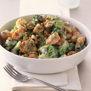 Chicken, Broccoli and Blue Cheese.