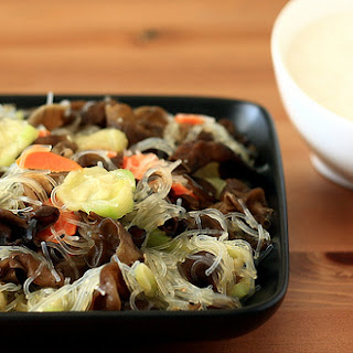 Luffa Squash Stir-fry with Wood Ear Mushrooms and Carrots [Printable Recipe]