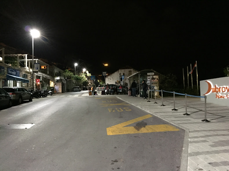 ドゥブロヴニク 空港行きバス乗り場