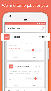 UShift - Find Part-Time Jobs - náhled
