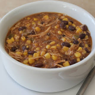 Crockpot Chicken with Black Beans and Corn.