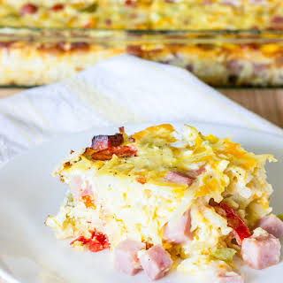 Easy Denver Omelet Hash Brown Casserole.