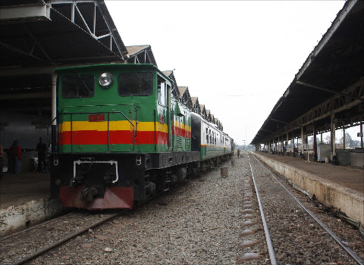 A train parked at the railway station in Nairobi.