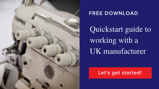 Quickstart guide to working with a UK clothing manufacturer