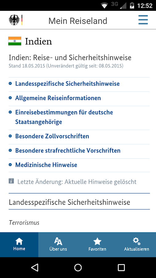 Sicher reisen- screenshot