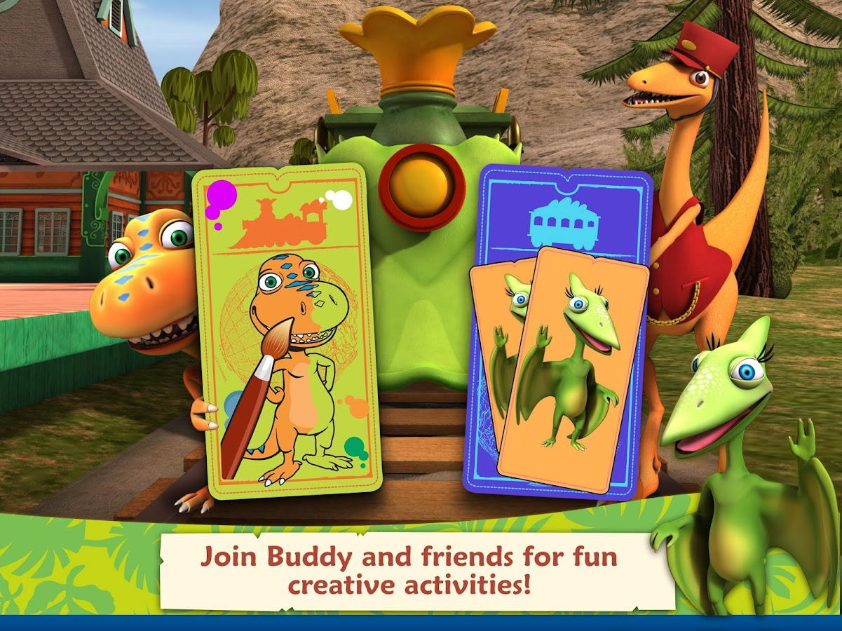 Dinosaur Train: Paint & Match- screenshot
