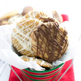 Mini Chocolate Drizzle Cookies.