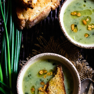 Garlicky Potato and Spring Onion Soup