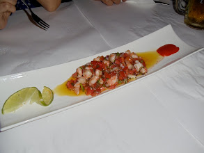 Photo: But Colombia has elegant culinary tastes as well. Here you see a shrimp and whitefish ceviche from a 5-star Cartagena restaurant.