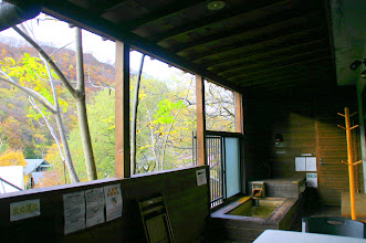 Photo: 秋は紅葉が見れます。
