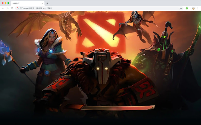 DotA Top Games New Tabs HD Wallpapers Themes