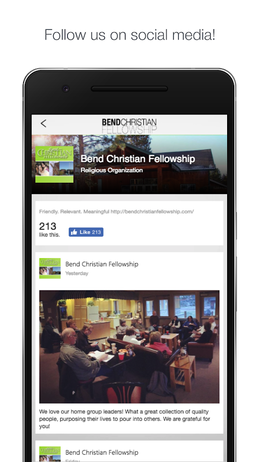 Bend Christian Fellowship- screenshot