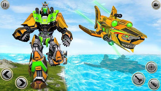Angry Shark Robot Submarine Shooting Attack 5