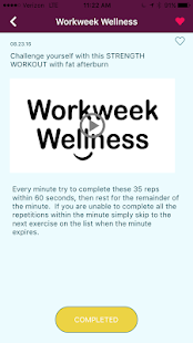 Workweek Wellness- screenshot thumbnail