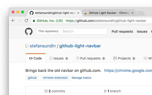 GitHub Light Navbar