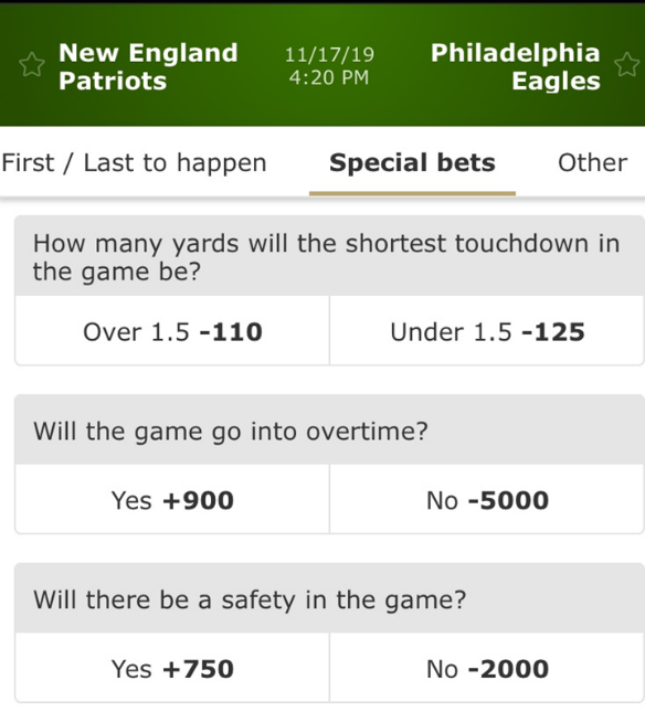 New England Patriots vs Philadelphia Eagles betmgm sportsbook nj