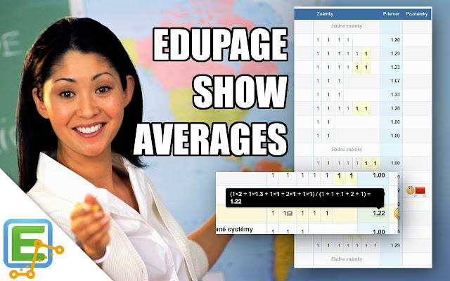 Edupage Show Averages