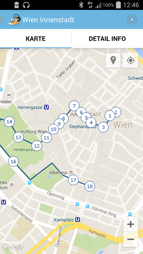 City Listening GPS Audio Guide- screenshot