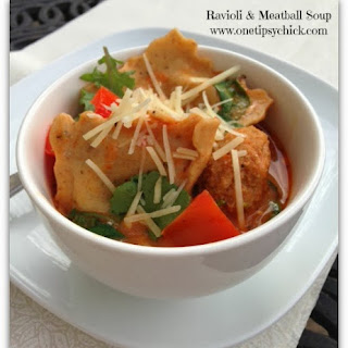 Ravioli & Meatball Soup