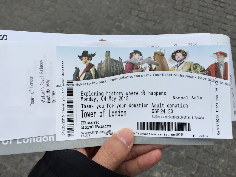 ロンドン塔 入場券