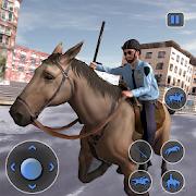 Mounted Horse Police Chase: NY Cop Horseback Ride