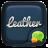 FREE - GO SMS LEATHER THEME mobile app icon