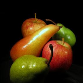 APPLES & PEARS by Karen Tucker - Food & Drink Fruits & Vegetables ( stilllife, close up, fruits, fruit, still life, healthy eating, food,  )