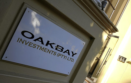 The  logo of Oakbay Investments at their offices in Sandton, Johannesburg.  Picture: SUPPLIED