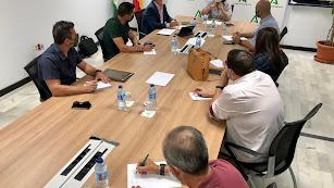 Reunión de los sindicatos Amaya e Infoca.