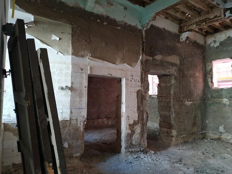 Interior de una de las salas que está en restauración