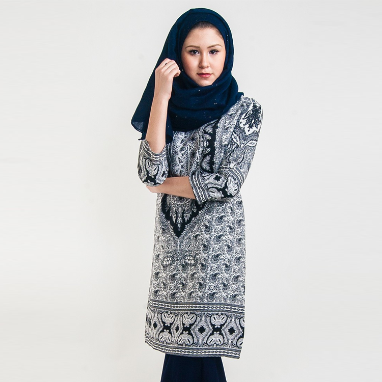 Ariana Printed Blouse by Hijab Le Modesty