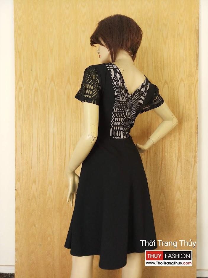 Váy xòe phối ren mặc công sở và dạo phố V629 tại hải phòng