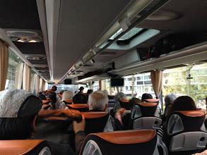 Photo: ベルギー組のバス。アントワープに向かいます。