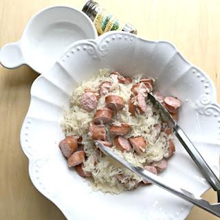 Electric Pressure Cooker New Year's Sauerkraut & Turkey Sausage.