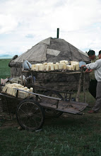 Photo: 03519 ケシクテン郊外/ゲル/乳製品を干す